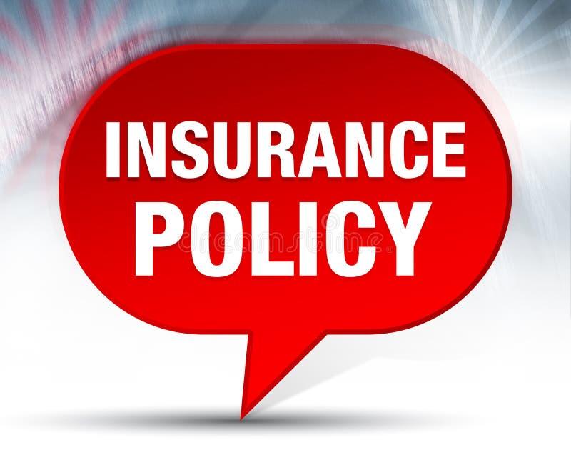 Fundo vermelho da bolha do seguro ilustração do vetor