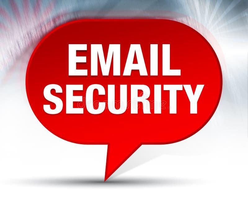 Fundo vermelho da bolha da segurança do e-mail ilustração royalty free