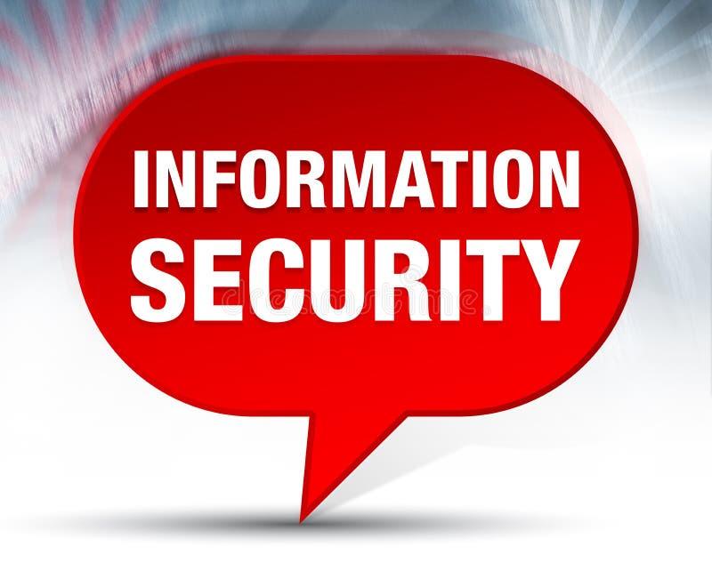 Fundo vermelho da bolha da segurança da informação ilustração stock
