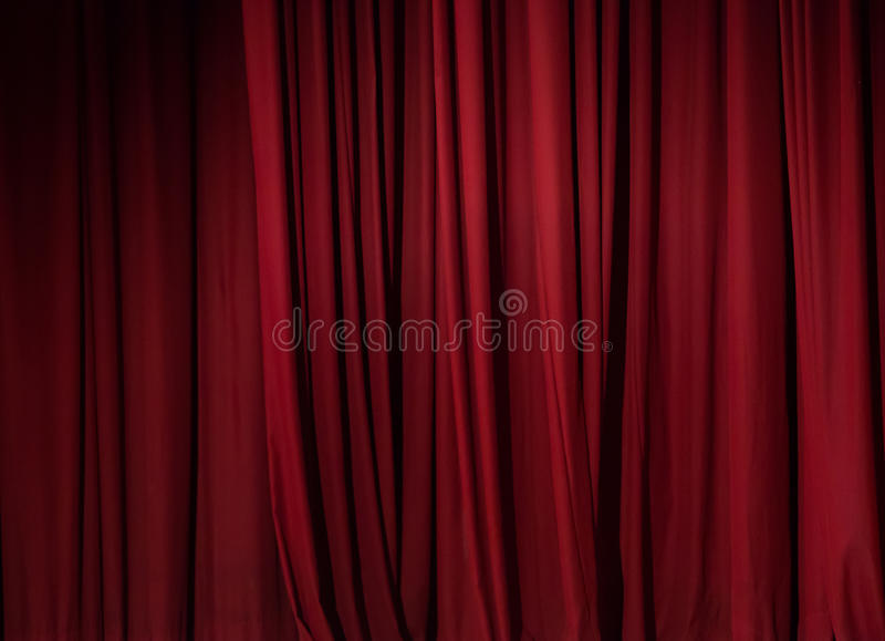 Fundo vermelho da cortina do teatro imagem de stock royalty free