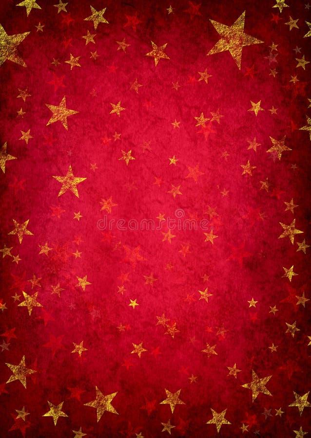 Fundo vermelho da estrela de Grunge ilustração stock