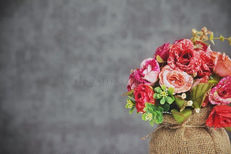 Fundo vermelho da flor fotos de stock royalty free