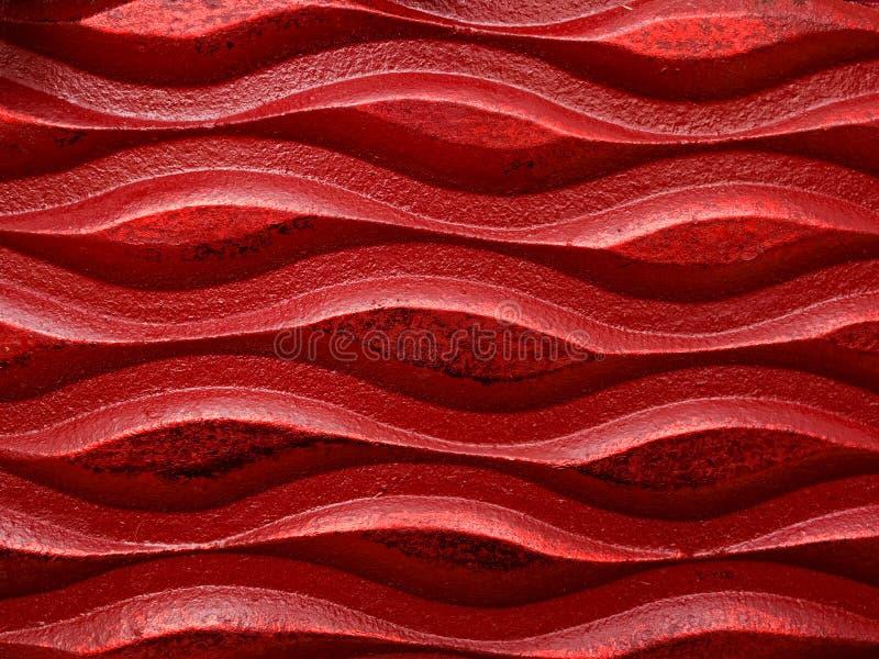 Fundo vermelho da onda fotografia de stock royalty free