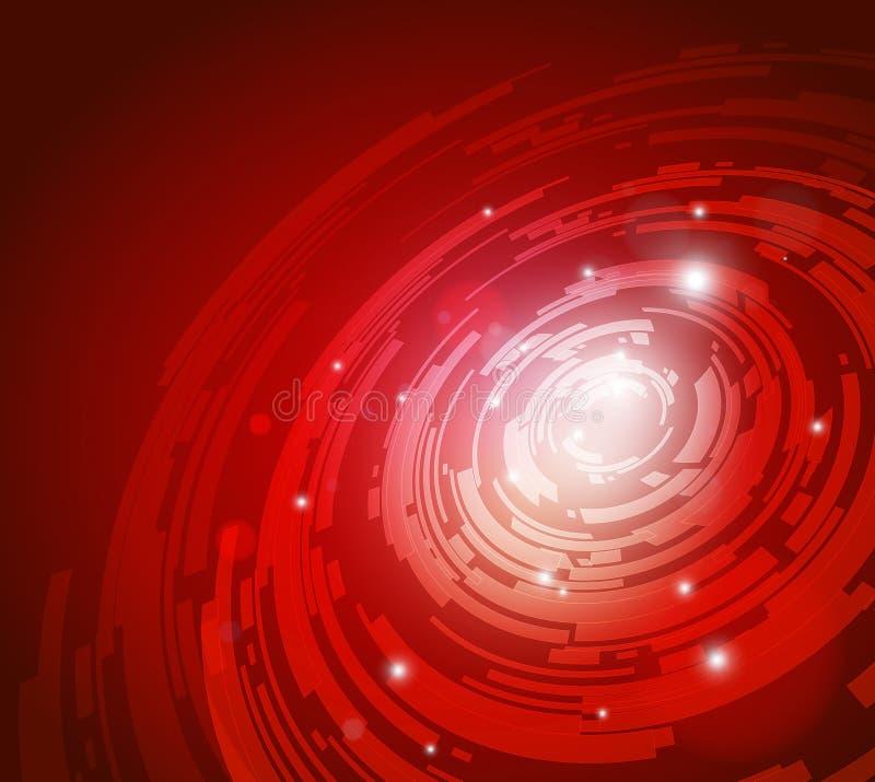 Fundo vermelho da tecnologia ilustração do vetor