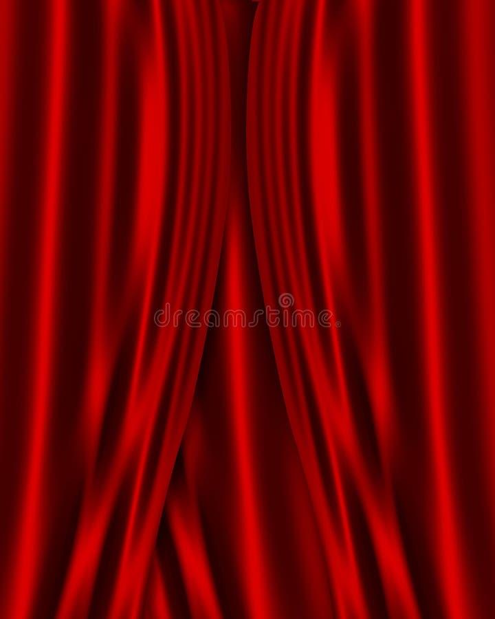 Fundo vermelho da tela do cetim ilustração stock