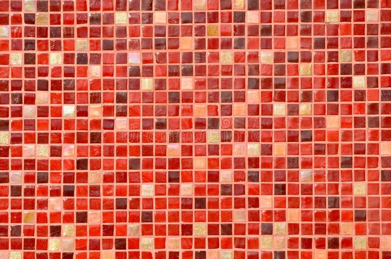 Fundo vermelho da telha do mosaico imagens de stock royalty free