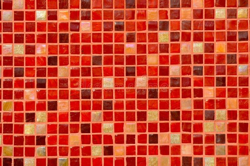 Fundo vermelho da telha do mosaico foto de stock
