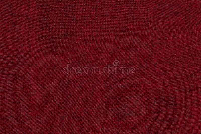 Fundo vermelho da textura da tela fotos de stock