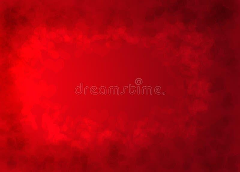 Fundo vermelho da textura dos corações ilustração stock