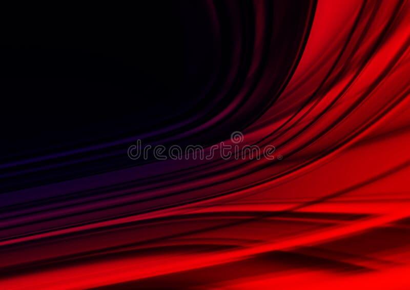 Fundo vermelho de Abstracti para o cartão ilustração royalty free