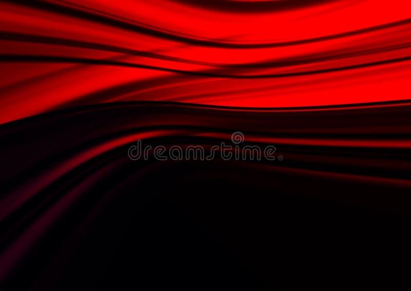 Fundo vermelho de Abstracti para o cartão ilustração stock