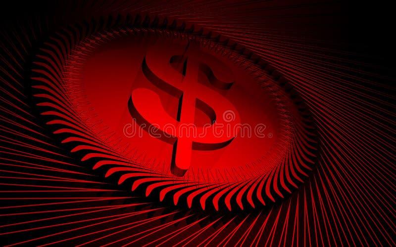 Fundo vermelho de Digitas ilustração do vetor