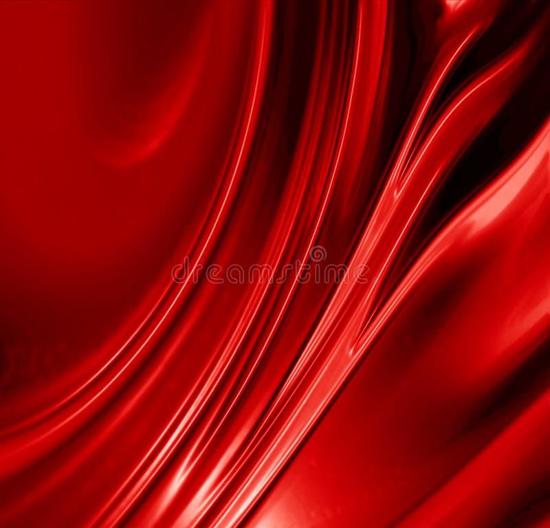 Fundo vermelho do cetim ilustração royalty free