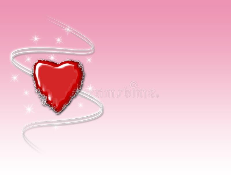 Fundo vermelho do coração ilustração stock