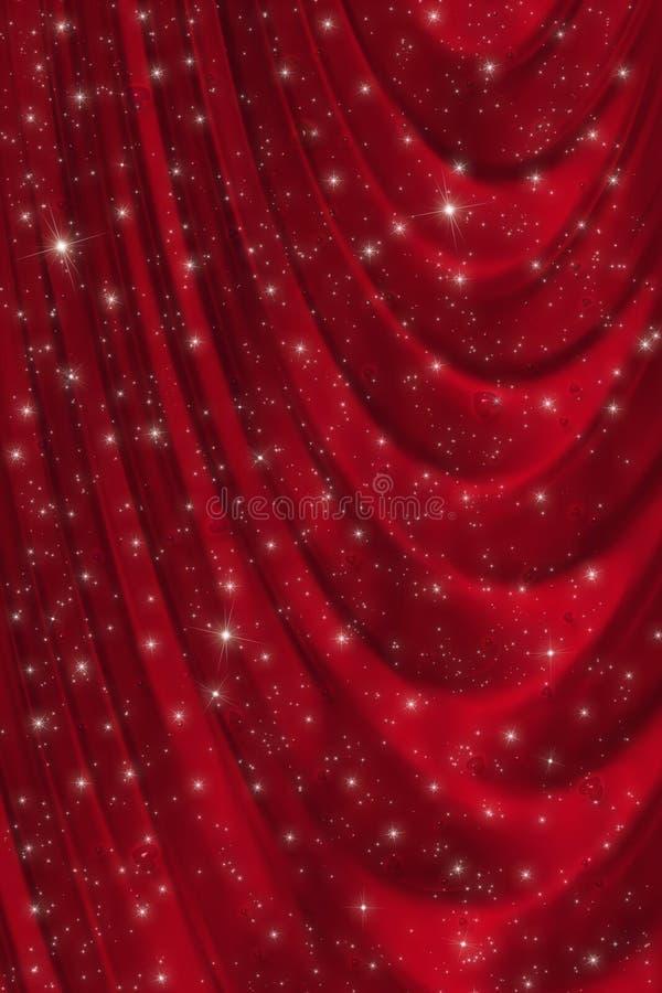 Fundo vermelho do drapery ilustração royalty free