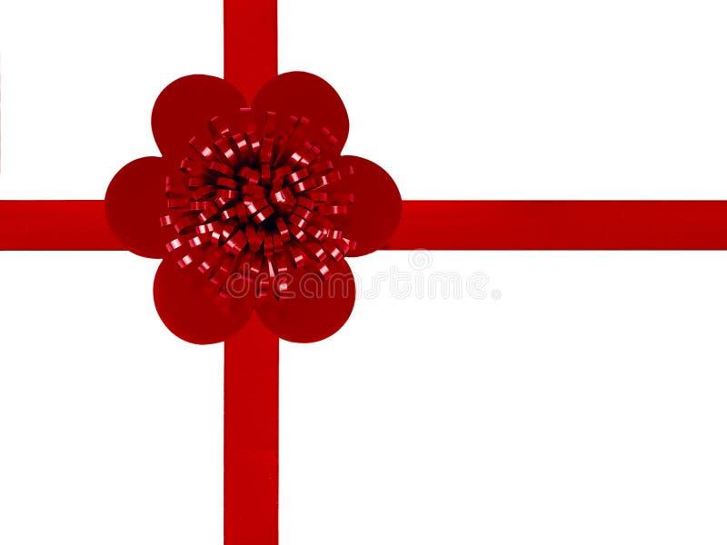 Fundo vermelho do envoltório de presente da fita com copyspace imagens de stock royalty free