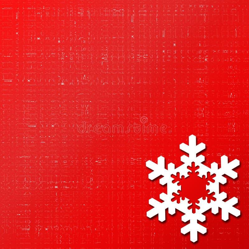 Fundo vermelho do floco de neve fotografia de stock