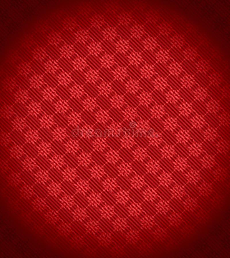 Fundo vermelho do floco de neve do Xmas ilustração royalty free