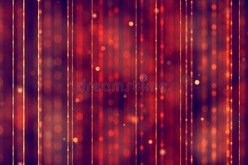 Fundo vermelho do inclinação abstrato do Natal com flowin vermelho do bokeh imagens de stock
