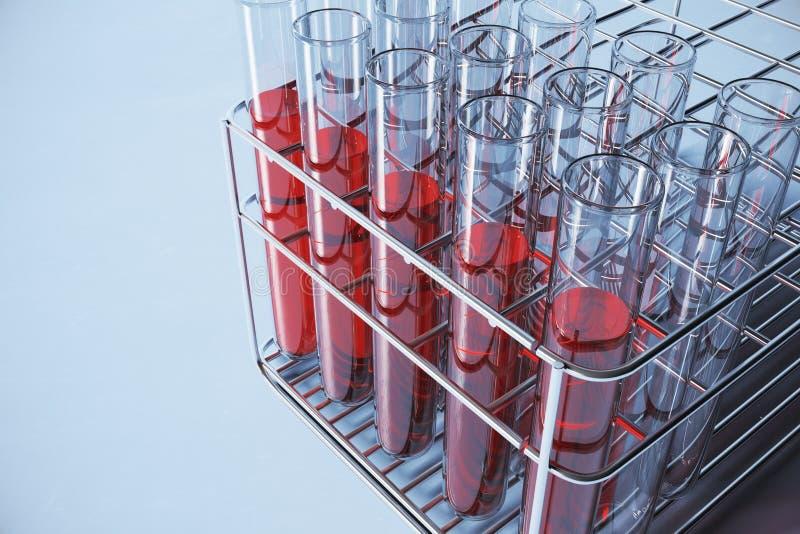 Fundo vermelho do laboratório ilustração do vetor