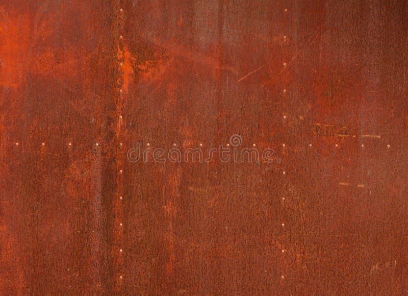 Fundo vermelho do metal da textura fotografia de stock royalty free