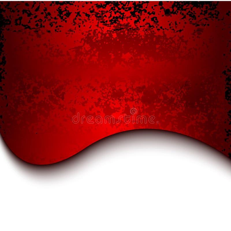 Fundo vermelho do metal do grunge com linhas ilustração royalty free