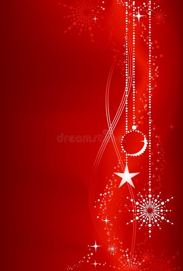 Fundo vermelho do Natal com ornamento