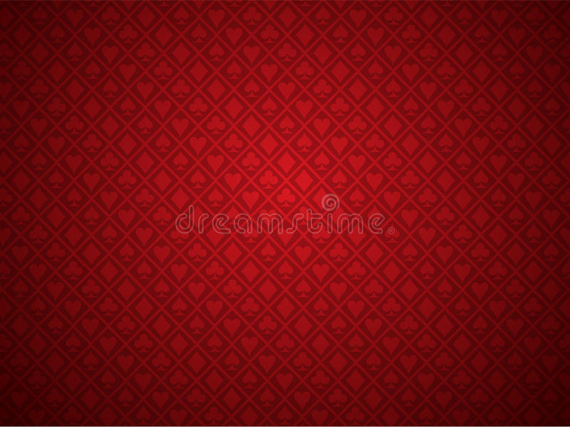 Fundo vermelho do póquer ilustração royalty free