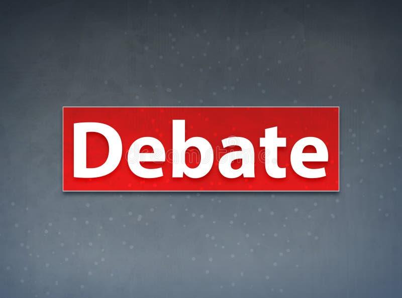 Fundo vermelho do sumário da bandeira do debate ilustração royalty free