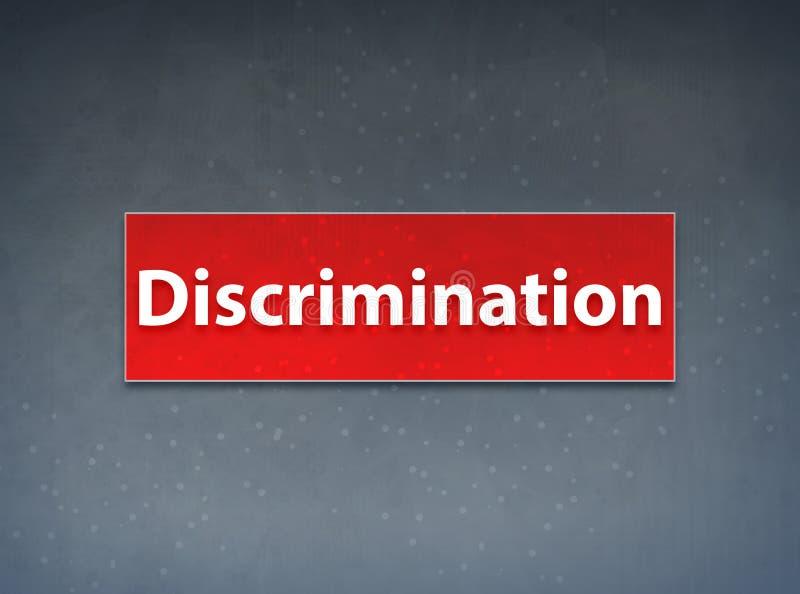 Fundo vermelho do sumário da bandeira da discriminação ilustração do vetor