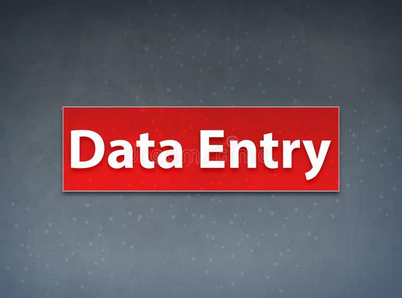 Fundo vermelho do sumário da bandeira da introdução de dados  ilustração royalty free