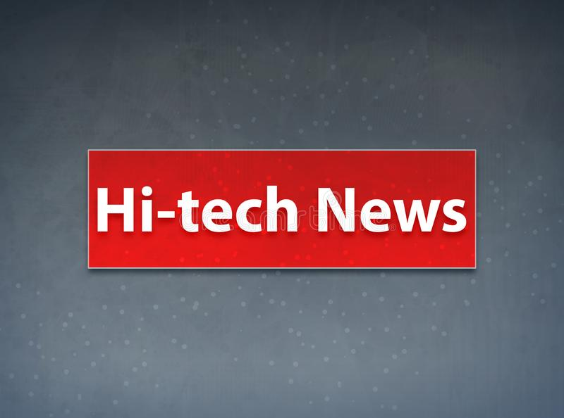 fundo vermelho do sumário da bandeira da notícia da Olá!-tecnologia ilustração do vetor