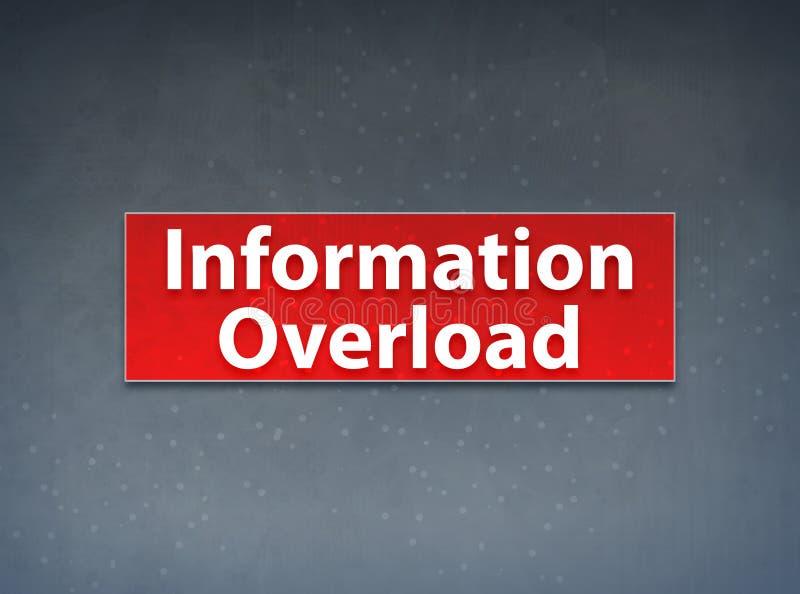 Fundo vermelho do sumário da bandeira da sobrecarga de informação ilustração do vetor