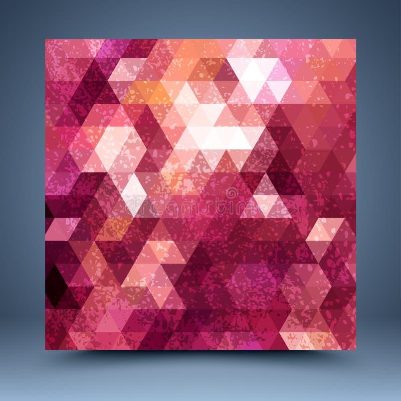 Fundo vermelho do sumário do mosaico do Grunge ilustração do vetor