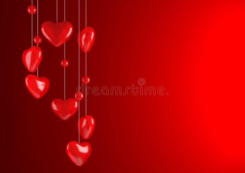 Download Fundo vermelho do Valentim ilustração stock. Ilustração de dappled - 12811006