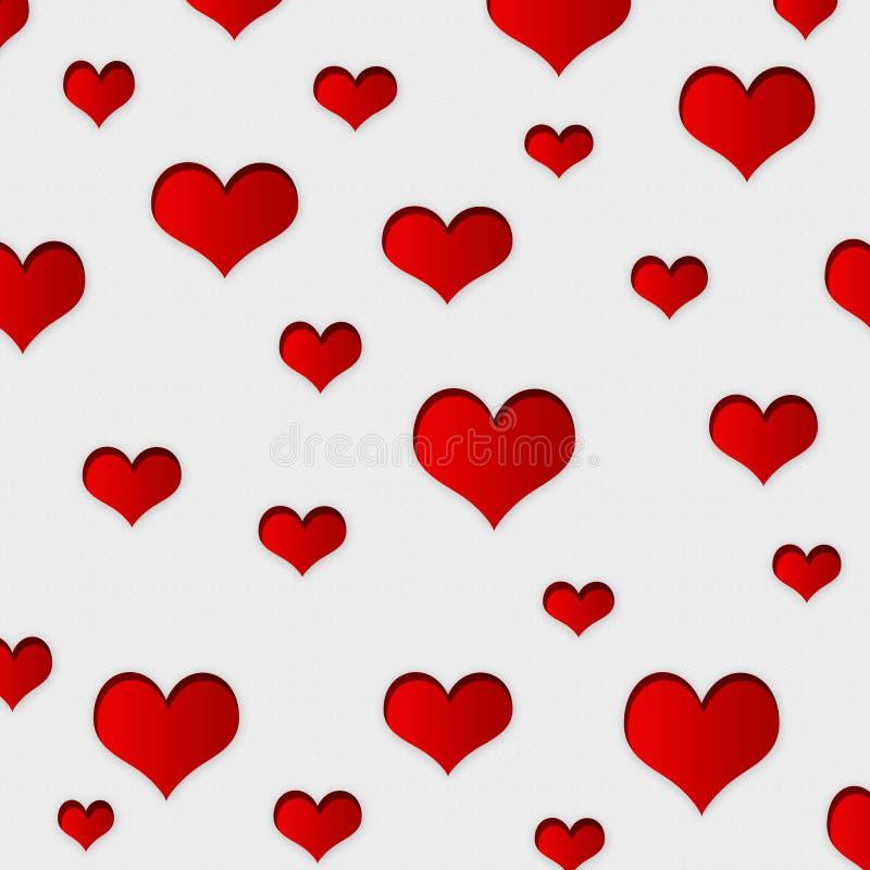 Fundo vermelho dos corações ilustração do vetor