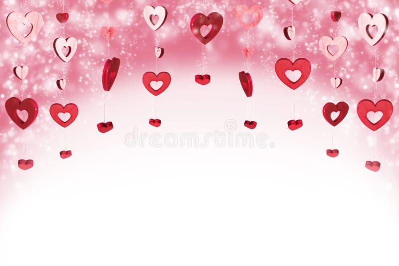 Fundo vermelho dos corações ilustração stock
