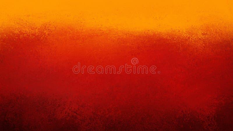 Fundo vermelho e alaranjado preto colorido com projeto com beira do grunge, projeto colorido textured ou do grunge do vintage da  ilustração stock