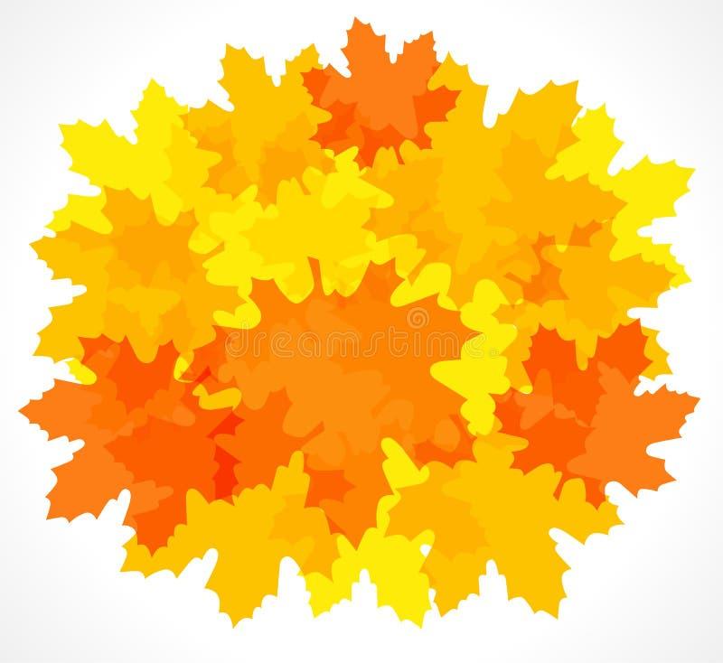 Fundo vermelho e amarelo do outono da folha de bordo ilustração do vetor