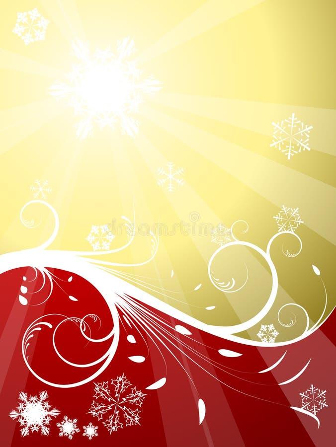 Fundo vermelho e dourado do natal ilustra o do vetor - Tarjetas de navidad elegantes ...