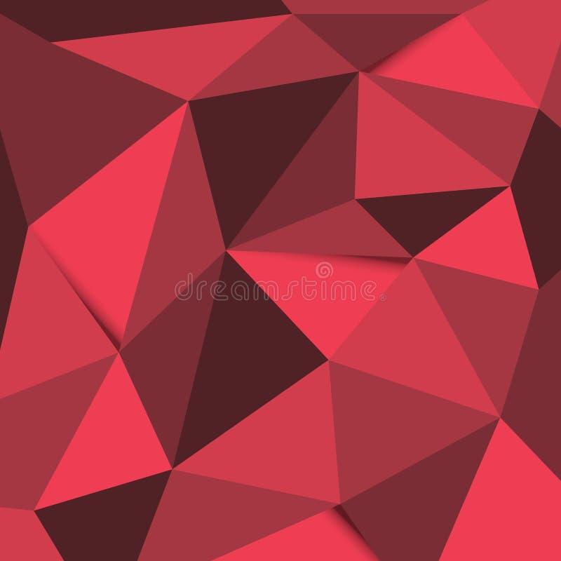 Fundo vermelho e preto do polígono fotos de stock royalty free