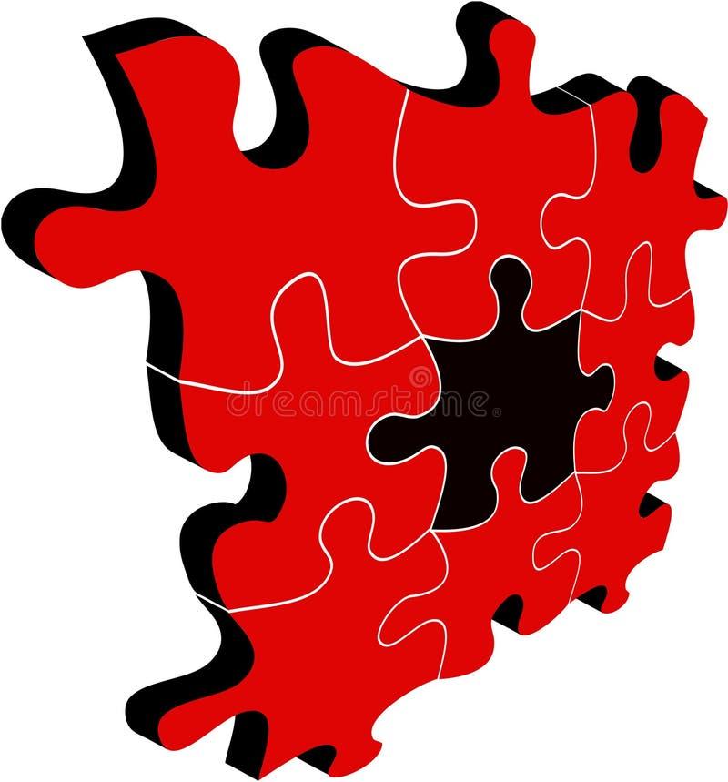 Fundo vermelho e preto do sumário do vetor ilustração royalty free