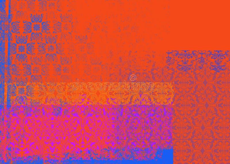 Fundo vermelho e roxo ilustração stock