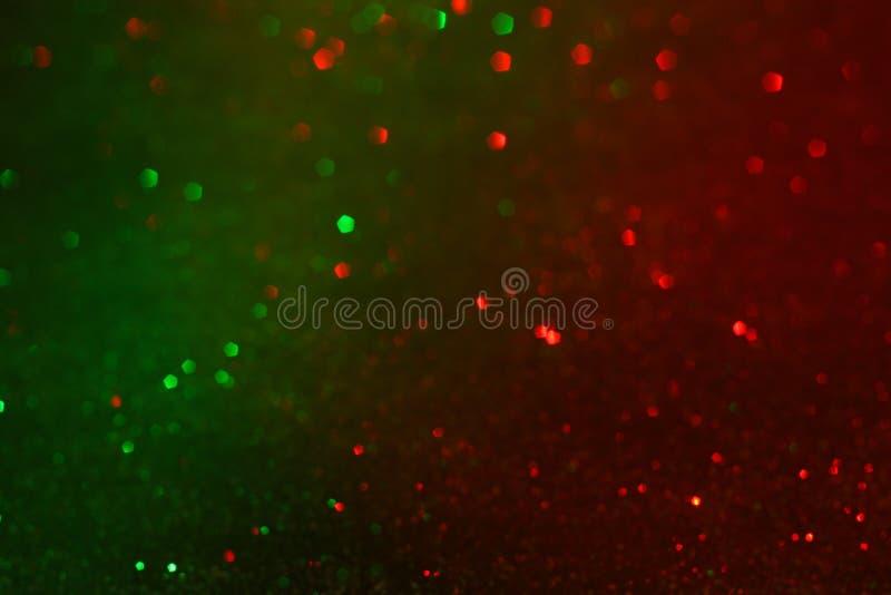 Fundo vermelho e verde do bokeh fotografia de stock royalty free
