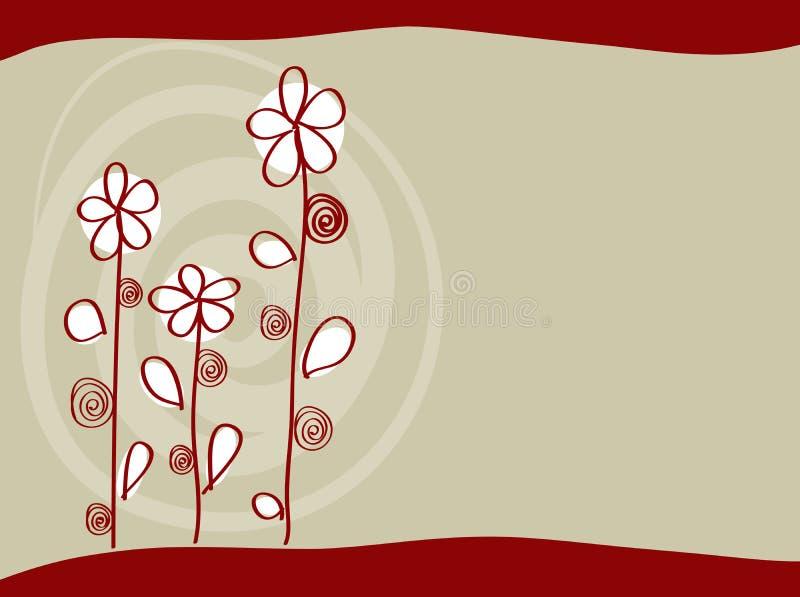 Fundo vermelho elegante ilustração do vetor