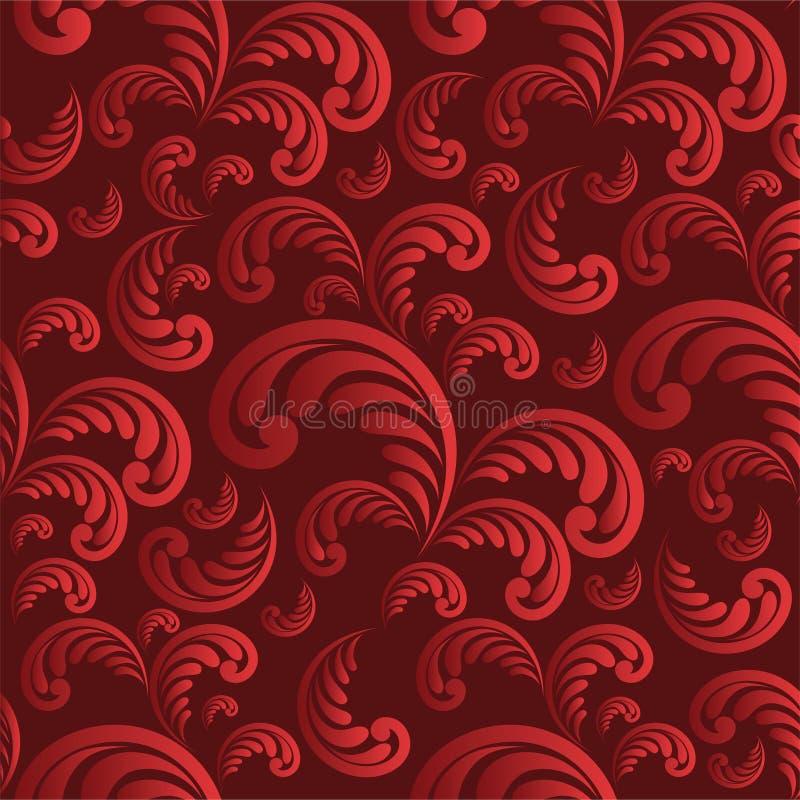 Fundo vermelho floral sem emenda ilustração stock