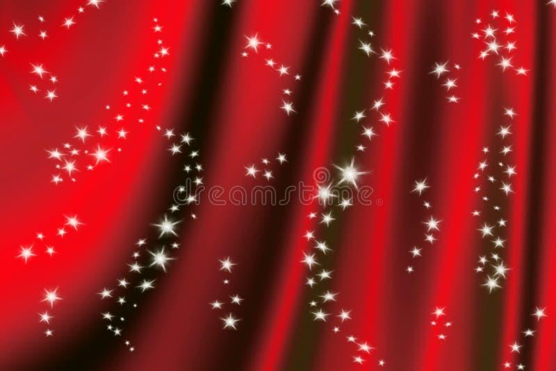 Fundo vermelho mágico ilustração do vetor