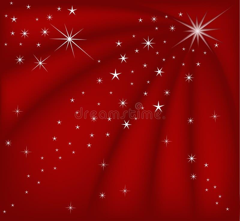 Fundo vermelho mágico do Natal ilustração stock