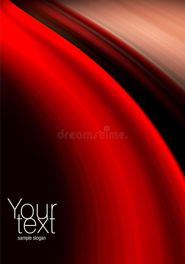 Fundo vermelho, preto e bege abstrato ilustração royalty free