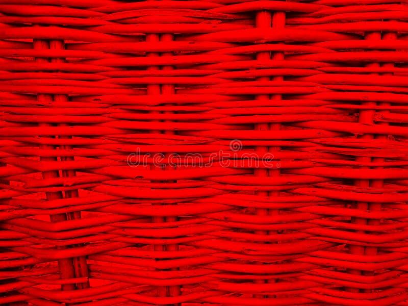 Fundo vermelho Textured dos galhos do withe fotos de stock